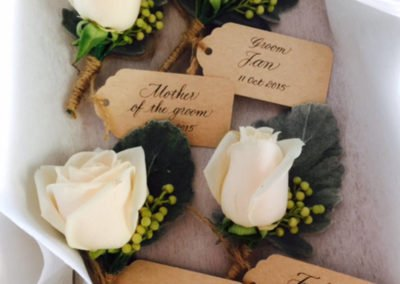Buttonholes with tags