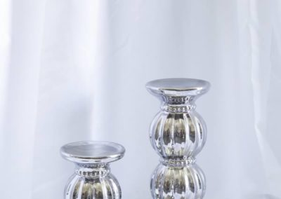 Silver Candle & Flower Stands